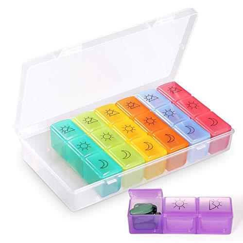 Opret ピルケース 薬ケース サプリメントケース 1週間 1日3回 携帯用 習慣薬箱 薬入れ コンパクト数字シール付き