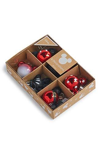 Disney Mickey et Minnie Mouse Boules de Noël à suspendre pour sapin de Noël