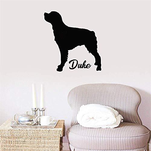 etiqueta de la pared decoración El nombre de encargo del perro de Bretaña personaliza con la silueta del animal doméstico del nombre del perro