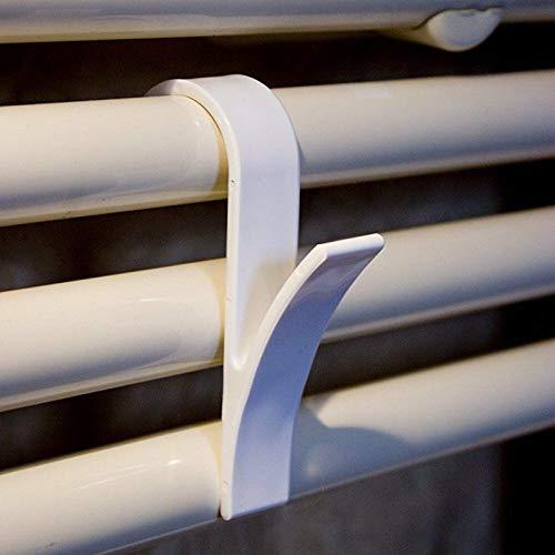 1pcs / 5pcs / 10pcs Percha de gancho de alta calidad para toalla calentada Riel del radiador Soporte de gancho de baño Navidad Gancho de toalla de baño para el hogar Accesorios de baño