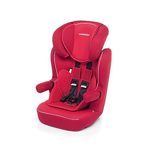 Foppapedretti Express Seggiolino Auto, Gruppo 1/2/3, 9-36 kg, per Bambini da 9 Mesi a 12 Anni, Rosso (Red)