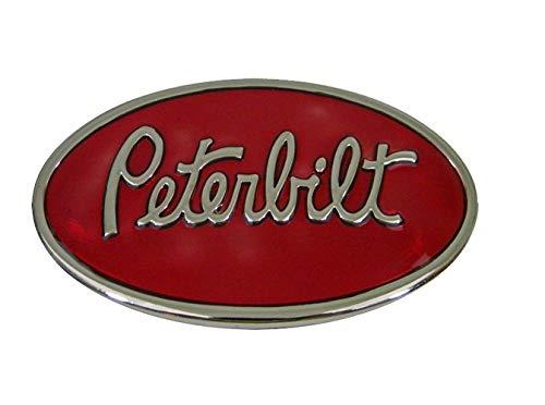Premium Peterbilt Red Trucking Belt Buckle - Men or Women Western Belt Accessory