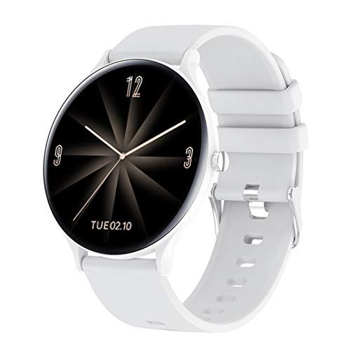 YXJ QW13 Smart Watch Redondo Delgado Reloj Deportivo para Hombres Y Mujeres De Ritmo Cardíaco para Mujer IP67 Banda De Fitness Impermeable para Xiaomi iPhone,A