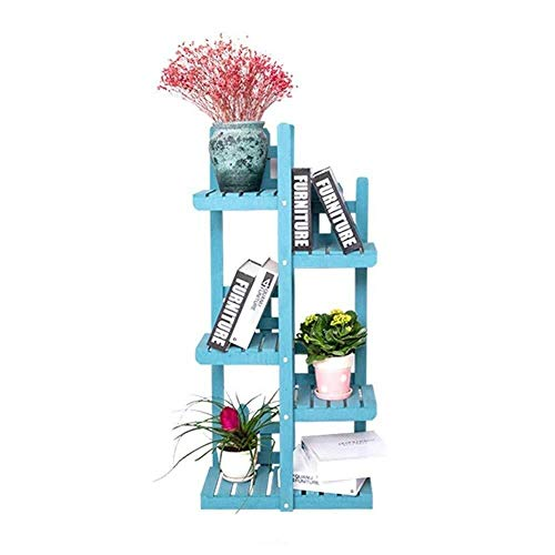 JJJJD Flower Stand Tipo de Suelo de Madera sólida de múltiples Capas de la Flor del Soporte del Estante Interior Sala Puesto de Flores Planta de Tiesto Rack