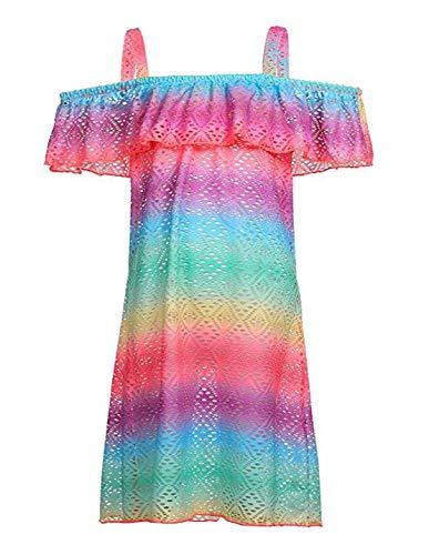 Mama stadt Pareos für Mädchen Strandkleid Hohle Bluse Bikini Cover Up Sommer Strandponcho Sommerkleid/XL