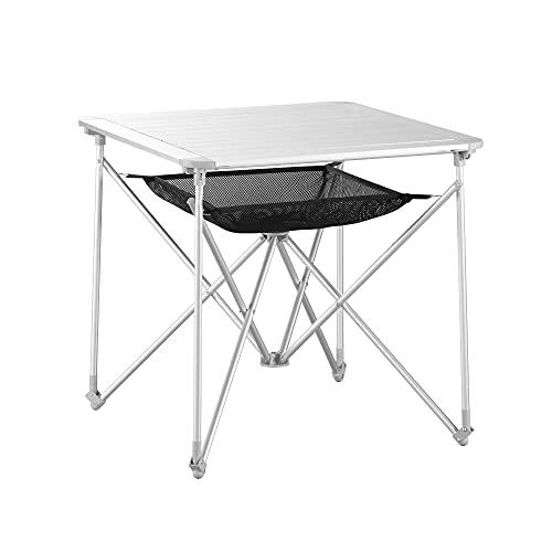 Uquip Mercy - Mesa Camping Plegable de Aluminio para 4 Personas - Bols
