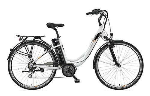 Telefunken E-Bike Damen 28 Zoll Elektrofahrrad - 7-Gang Kettenschaltung, Pedelec Citybike Alu mit Mittelmotor 250W /10,4Ah / 36V Sitzrohrakku, RC860 Multitalent
