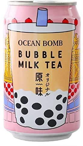 YHB Ocean Bomb Tapioca Pearls Bubble Milk Tea 315ml Can Drink (Pack of 3)