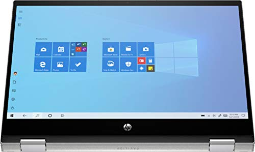 Product Image 1: HP – Pavilion x360 2-in-1 14″ Touch-Screen Laptop – Intel Core i3 – 8GB Memory – 128GB SSD – Natural Silver – 14m-dw1013dx