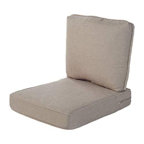 Quality Outdoor Living 29-TN02SB Chair Cushion, 22 x 25, Tan