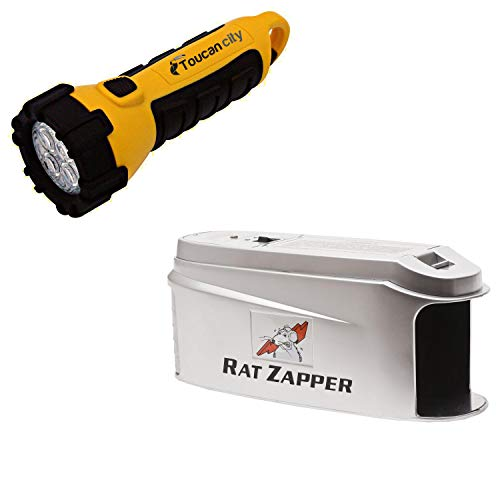 Toucan City LED Flashlight and Rat Zapper Ultra Rat and Mouse Trap RZU001-4