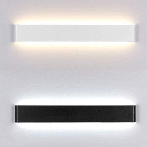 YUMUO Aplique de pared Iluminación moderna minimalista LED lámpara de pared sala dormitorio cabeza de cama largo creativo baño espejo faro 61 cm