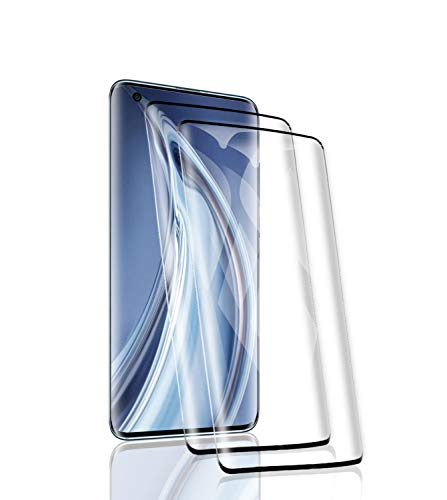 RSSYTZ [2 Pack Protector de Pantalla para Xiaomi Mi 10, [9H Dureza] [Resistente a Arañazos] [Admite la función de Huella Digital] Vidrio Templado Screen Protector para Xiaomi Mi 10