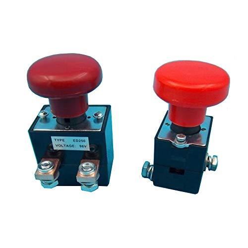 ED125B-1 125A Interruttore di Arresto di Emergenza Interruttori a Pulsante a Fungo Rosso Sostituzione Sostituzione per Carrelli Elevatori Impilatore Elettrico Transpallet (ED125B-1 (125A, 48V))
