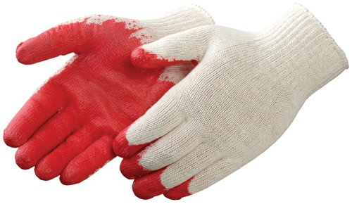 Liberty 4749 Latex Economy Palm Coated String Knit Glove, Large, Red (Pack of 12)