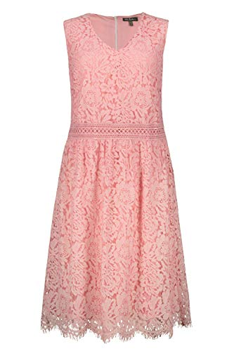 Ulla Popken Damen große Größen Spitzenkleid, ärmellos Kleid, Rosa (Zartrosa 72718556), 48