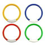MansWill 4 x Kinder Tauchringe Pool Spielzeug, Kinder Sicher Wasser Schwimmen Spiel-Set, 4 Farben...