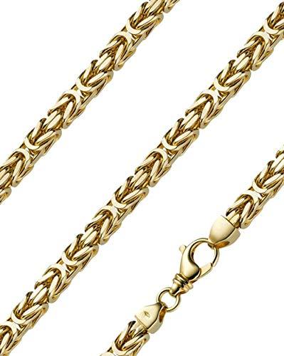 Königskette massiv 14 Karat 585 Gelbgold 70cm lang und 7,0mm breit