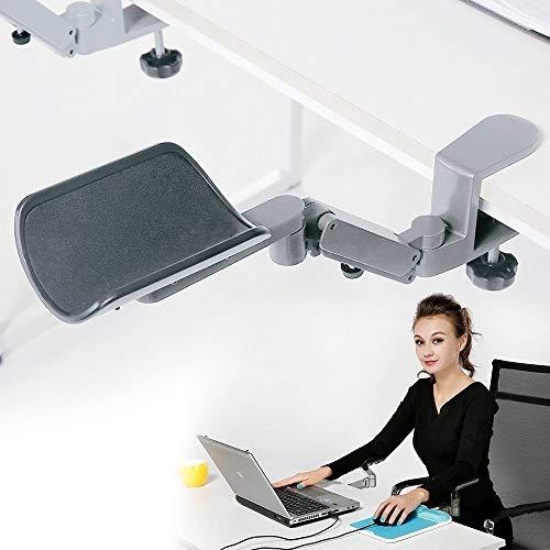 Drehbarer Schreibtisch-Verlängerungs-Ellenbogenpolster, ergonomische Handgelenkauflage, Armlehnenstütze, abnehmbarer Armständer, Wiege, Maus-Pad, Schreibtischverlängerung für Gaming/Arbeiten