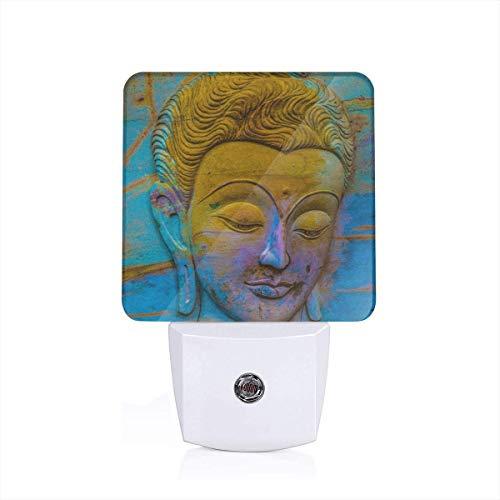 Carving Buddha Art Plug-in Night Light Dusk to Dawn Smart Sensor,White LED Nightlight for Bedroom,Bathroom,Kitchen,Hallway,Stairs,Hallway,Energy Efficient,Decor Desk Lamp …