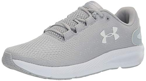 Under Armour Men's Charged Pursuit 2 Running Shoe, Mod Gray (102)/White, 9.5 M US