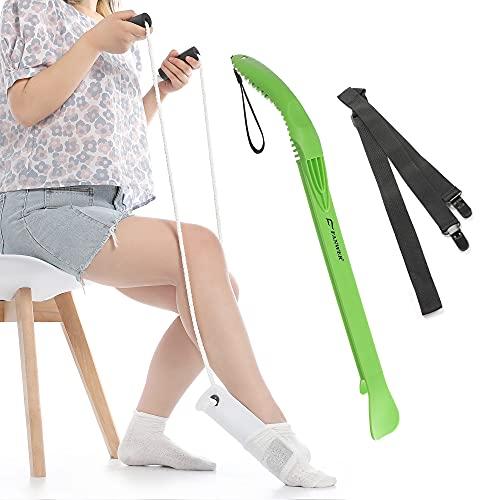 Calzador para calcetines, pantalones y zapatos, calzado, calzador de calcetines, ayuda para personas mayores con discapacidades embarazadas