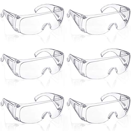 6 Packs Protective Polycarbonate Eyewear Clear Safety...