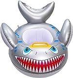 GOLDGOD Hai Geformt Baby Pool, Float Cartoon Aufblasbarer Fisch Schwimmring PVC Aufblasbarer Schwimmring, Mit Griffsitzring