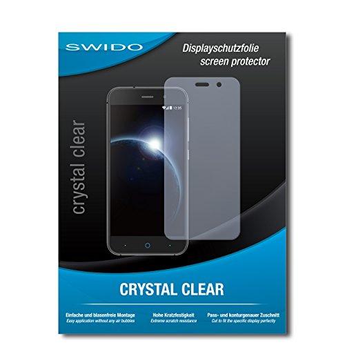 SWIDO Bildschirmschutz für ZTE Blade V6 [4 Stück] Kristall-Klar, Hoher Festigkeitgrad, Schutz vor Öl, Staub & Kratzer/Schutzfolie, Bildschirmschutzfolie, Panzerglas Folie