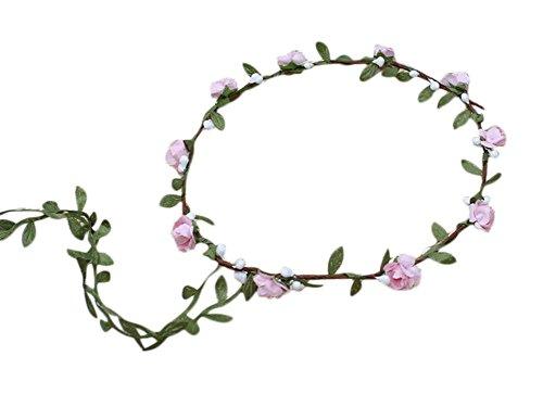 Dylandy - Bandeau - Femme - Rose - 26 cm