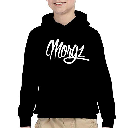 Boys and Girls British_M Pullover Hoodie Sweatshirt Pockets Hoodies Tops Hoodied White