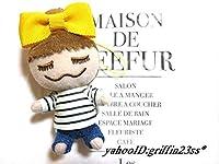 MAISON DE REEFURメゾンドリーファー梨花人形ストラップ黄色リボン
