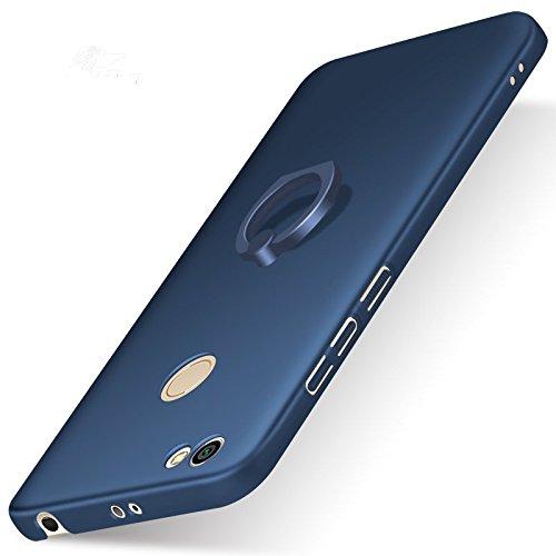Funda® Firmness Smartphone Funda Carcasa Case Cover Caso con Anillo para Xiaomi Redmi Note 5A/Redmi Note 5A Prime(Azul)