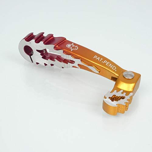 one by Camamoto cod. 77090566 pedale pedivella leva avviamento accensione messa in moto colore rosso / arancio compatibile con yamaha aerox slider neo's / mbk stunt booster spirit bw's nitro motori minarelli