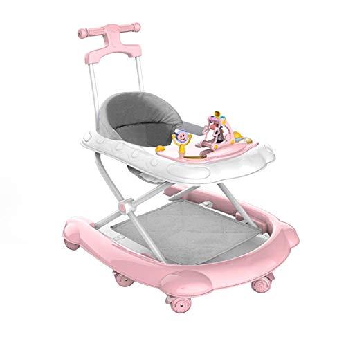 PMU Andador Plegable para bebés con 6 Ruedas universales y Freno, arnés para Caminar para bebés, Asistente para Caminar portátil y Transpirable para bebés