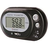 Oregon Scientific PE-320-negro - Podómetro con función reloj, cuenta pasos y cálculo de distancia