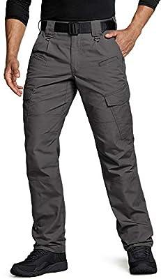 CQR Men's Tactical Pants, Water Repellent Ripstop Cargo Pants, Lightweight EDC Hiking Work Pants, Outdoor Apparel, Duratex(tlp108) - Charcoal, 32W x 30L