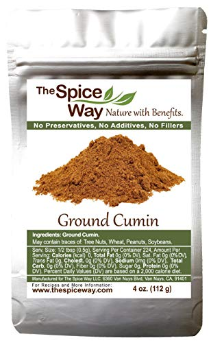 The Spice Way Ground Cumin - powder made from premium whole cumin seeds 4 oz resealable bag