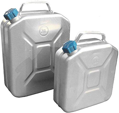 KILLM Kraftstofftank, Aluminium Kanister Benzin Handling Tanks, Heavy Duty-Treibstoff-Öl Kraftstoff Kanister für im Freien, Benzintank,20L