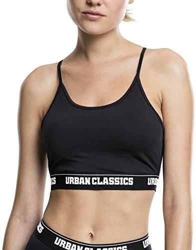 Urban Classics Ladies Sports Bra Sujetador Deportivo, Negro (Black 7), S para Mujer