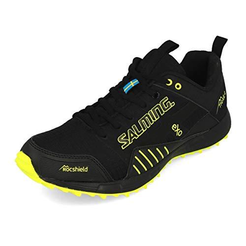 Salming Herren Trail T4 Schwarz, Gelb Laufschuhe Trailschuh, Black/Safety Yellow, 47 1/3EU