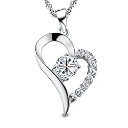 Heart Sterling Silver Pendant Necklace - innovative valentine's day gifts for her