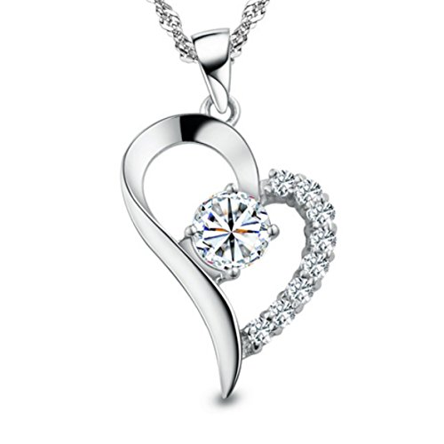 You Are the Only One in My Heart Sterling Silver Necklace