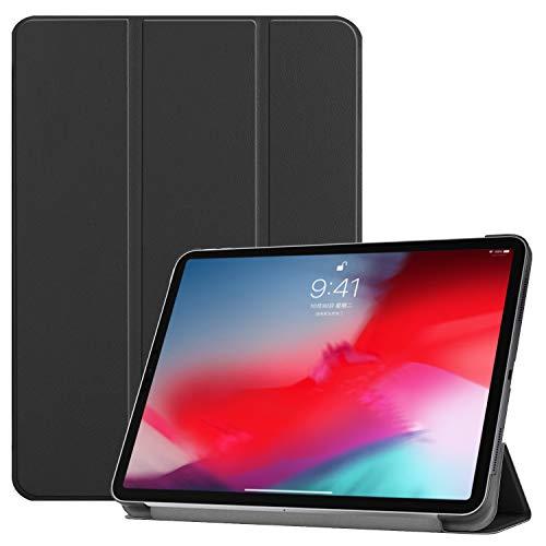 3-voudig lederen hoesje voor iPad Pro 11-inch scherm 2018, Folio PU Ultra Slim Fit Beschermende Auto Sleep/Wake Magnetische Flip Tablet Cover