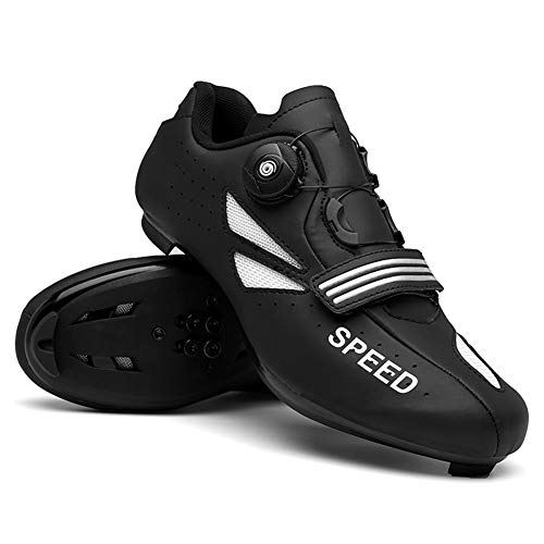 UYBAG Lightweight Cycling Spinning Shoe Professional Road Bike Shoes with Lock System and Soft Inner Pad Indoor Riding Road Cycling The Best Choice for Beginners,38
