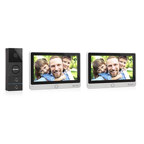 Byron Video-Gegensprechanlage mit zwei 7 Zoll HD Touchscreen 720p (erweiterbar) Videoaufnahmefunktion Nachtsicht, DIC-24122