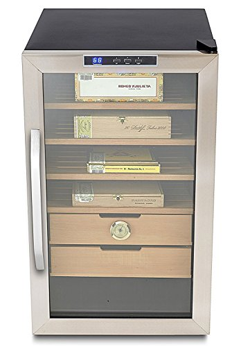 Whynter CHC-251S Stainless Steel 400-Cigar Cooler, 2.5 Cubic Feet Humidor, Black