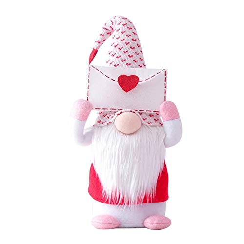 nlgzklsh Muñecas de gnomo de peluche hechas a mano para el día de San Valentín, confesión, regalo de fiesta decorativa para el hogar