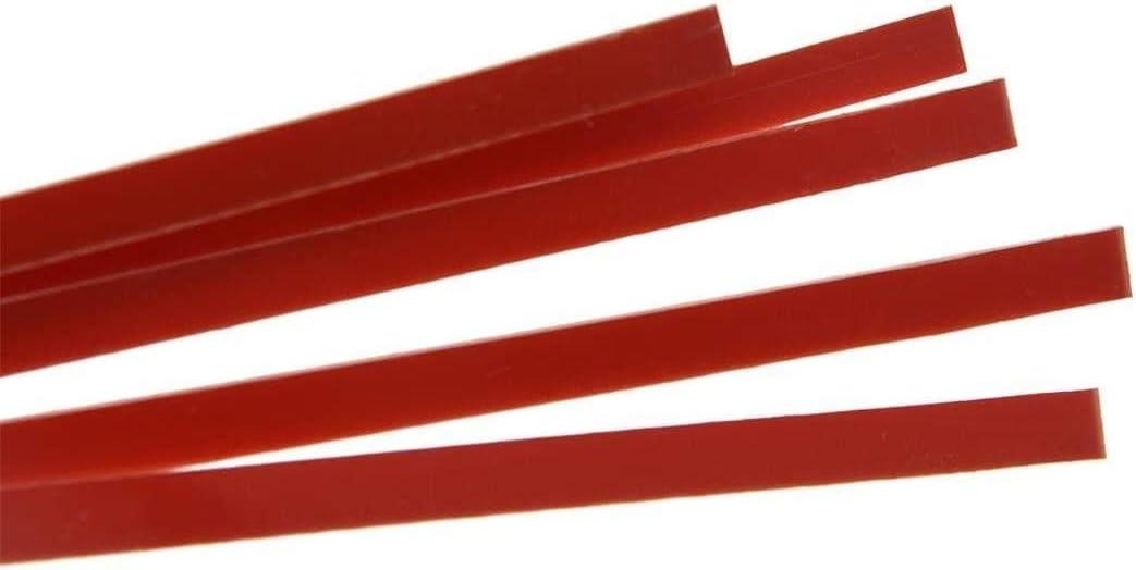 Dopro 5pcs Acoustic Classical Guitar Binding Purfling Strips ABS Binding Strip 1650x5x1.5mm Red