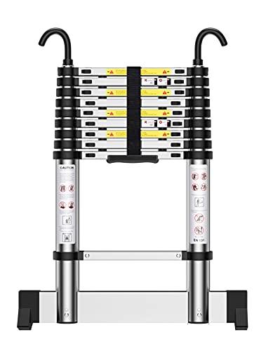Teenza® Scaletta Telescopica 2,9m Scala Alluminio, Scala Estensibile Fai Da Te, Pieghevole E Portatile, Portata 150 kg, Certificazione EN131